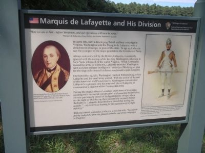 Marquis de Lafayette and His Division Marker image. Click for full size.