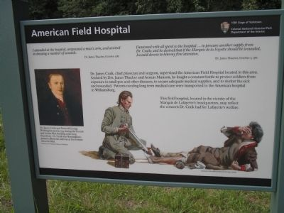 American Field Hospital Marker image. Click for full size.