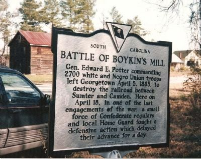 Battle of Boykin's Mill Marker image. Click for full size.
