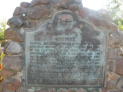 First Transcontinental Railroad Marker image. Click for full size.