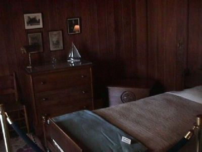 Bedroom in The Little White House image. Click for full size.
