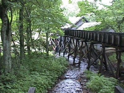 Mill Run leading to the Mabry Mill waterwheel image. Click for full size.