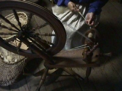 Spinning Wheel exhibit image. Click for full size.