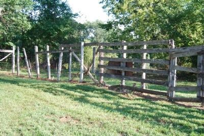 Livestock Corral Walls - over six feet high image. Click for full size.
