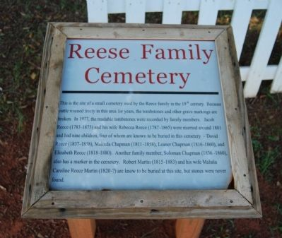 Reese Faily Cemetery Marker image. Click for full size.