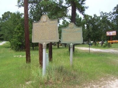 "Old Savannah Road Marker shares intersection with ""Union Meeting House"" Historical Marker image. Click for full size."