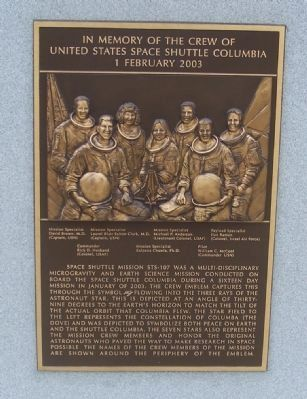 United States Space Shuttle Columbia Marker (reverse) image. Click for full size.