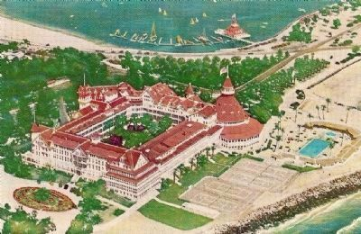 Vintage Postcard - Aerial View of Hotel del Coronado image. Click for full size.