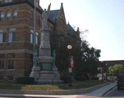 Coles County - - Civil War Memorial image. Click for full size.