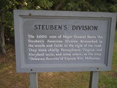Steuben's Division Marker image. Click for full size.