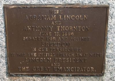Lincoln-Thornton Debate (Larger) Marker image. Click for full size.