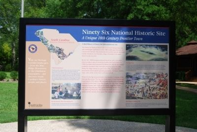 Ninety Six National Historic Site Marker -<br>Previous Location image. Click for full size.