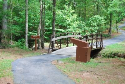Walking Trail Crosses Historic Spring Branch image. Click for full size.