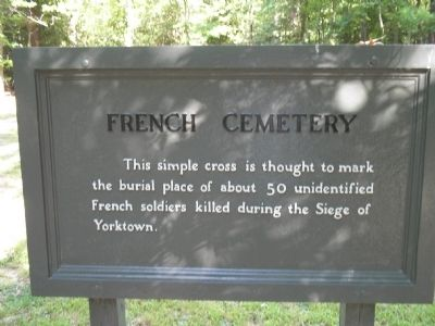 French Cemetery Marker image. Click for full size.