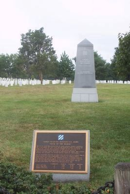 "Third Infantry Division, U.S. Army Monument, ""In Memory of Our War Dead"" image. Click for full size."