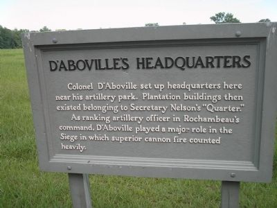 D'Aboville's Headquarters Marker image. Click for full size.
