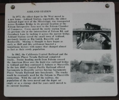 Ashland Station Marker image. Click for full size.
