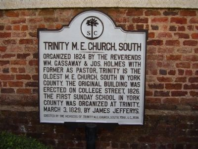 Trinity M. E. Church, South Marker image. Click for full size.