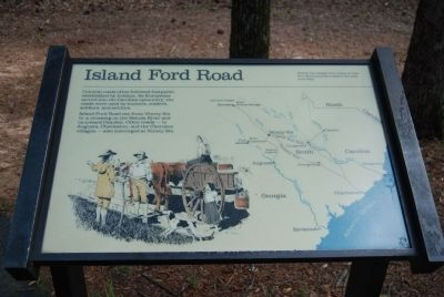 Original Island Ford Road Marker image. Click for full size.