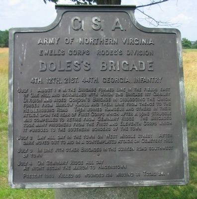 Doles's Brigade Tablet image. Click for full size.