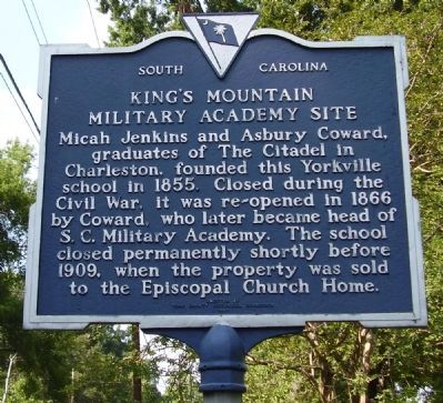 King's Mountain Military Academy Site / Micah Jenkins Marker image. Click for full size.