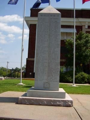 Cherokee County Veterans Memorial (W. W. ll) image. Click for full size.