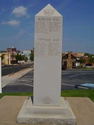 Cherokee County Veterans Memorial (Korean & Vietnam Wars) image. Click for full size.