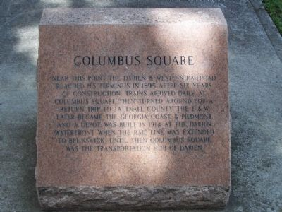 Columbus Square Marker image. Click for full size.