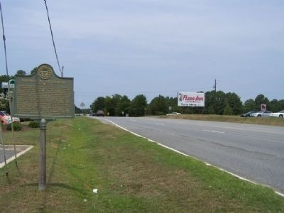 Skirmish at Statesboro Marker, looking north on US 80 image. Click for full size.