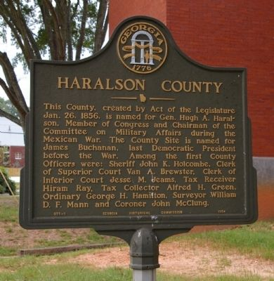 Haralson County Marker image. Click for full size.