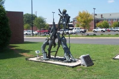 Tribute to Greer Firefighters Marker and Sculpture image. Click for full size.