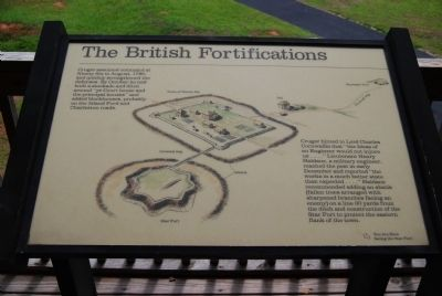 The British Fortifications Marker image. Click for full size.