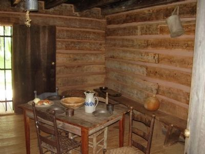 Furninshings of Scruggs Cabin image. Click for full size.