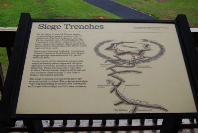 Siege Trenches Marker image. Click for full size.
