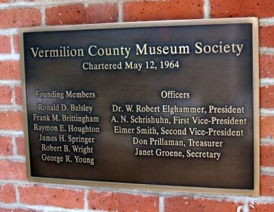 Vermilion County Charter Marker image. Click for full size.