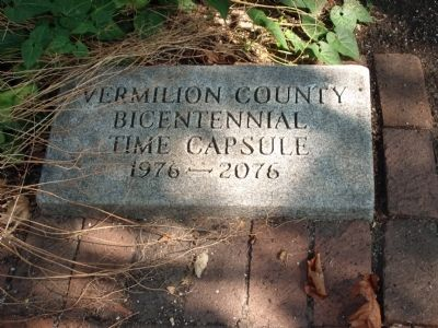 The Front Side Walk Feature - - Vermilion County's Bicentennial Time Capsule image. Click for full size.
