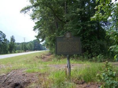 Rice Hope Marker, looking south along US 17 and wagonway image. Click for full size.