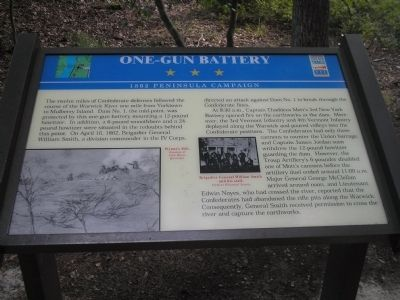 One-Gun Battery Marker image. Click for full size.