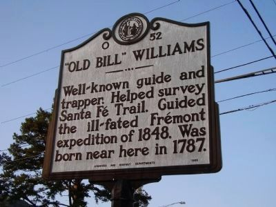 """Old Bill"" Williams Marker image. Click for full size."