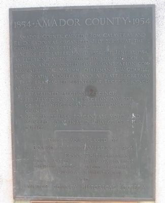 1854 · Amador County · 1954 Marker image. Click for full size.