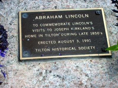 Abraham Lincoln in Tilton, Illinois Marker image. Click for full size.