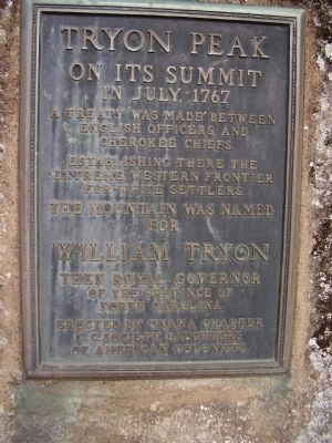 Tryon Peak Marker image. Click for full size.