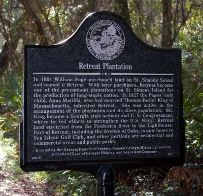 Retreat Plantation Marker image. Click for full size.