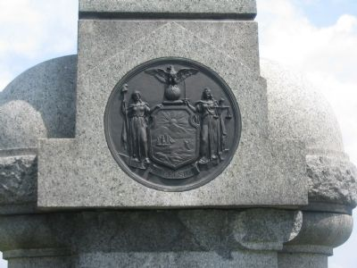 State Seal on the Front of the Monument image. Click for full size.
