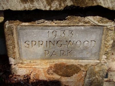 Spring-Wood Park Marker image. Click for full size.