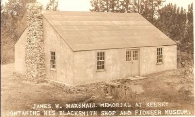 Vintage Postcard - Marshall's Blacksmith Shop in Kelsey (Mentioned Earlier) image. Click for full size.