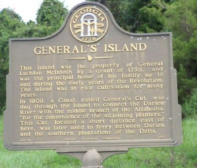 General's Island Marker image. Click for full size.