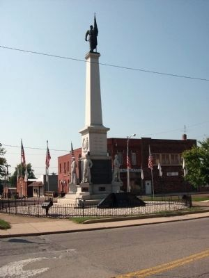 Shelby County War Memorial and Freedom Square Marker image. Click for full size.