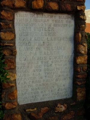 Polk County World War Memorial Marker image. Click for full size.
