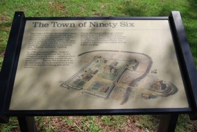 Original The Town of Ninety Six Marker image. Click for full size.